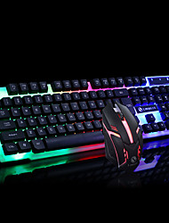 cheap -LITBest LMEI-30 Gaming keyboard Colorful LED Illuminated Backlit USB Wired PC Rainbow Anti-skid Keyboard Gaming Waterproof Gaming Mouse For Desktop PC