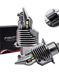 cheap -1Set Car Headlight H4 Led Bulbs Car/motorcycle Headlight 72W 12V 24V 6000K Super Led H4 Car headlight Bulbs lampada Led H4 8000LM