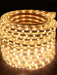 cheap -10M SMD 5050 LED Strip light Waterproof 220V 5050 LED Strip Lights Diode Tape Holiday Decoration Lamp LED String Ribbon 60LEDs/M With EU Plug