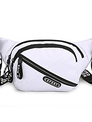 cheap -Men's Bags Polyester Fanny Pack Zipper Solid Color 2020 Daily White Black Blue Red
