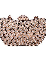 cheap -Women's Bags PU Leather Evening Bag 4 Pieces Purse Set Crystals / Beading for Event / Party / Date White / Black / Blushing Pink / Wedding Bags
