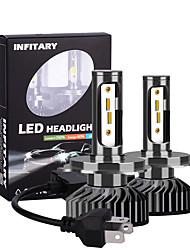 cheap -2pcs Ingitary Canbus Led Car Headlight Bulbs 16000Lm ZES Chips 6500K 4500K 3000K H1 H3 H7 H11 9005 9006 Auto Fog Light