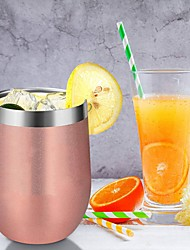 cheap -Insulated Wine Tumbler 12oz with Glass Lid and Double Stainless Steel Walls for Coffee Mug Champaign Cocktail Wine and Beer