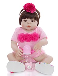 cheap -KEIUMI 22 inch Reborn Doll Baby & Toddler Toy Reborn Toddler Doll Baby Girl Gift Cute Washable Lovely Parent-Child Interaction Full Body Silicone 23D01-C91-S21 with Clothes and Accessories for Girls