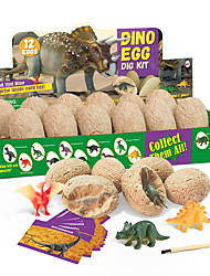 cheap -DIY Toys Dig Kit Game Dinosaur Egg 12 pcs Jurassic Dinosaur Creative STEAM Toy Fun Educational For Kid's Boys and Girls Party Gift