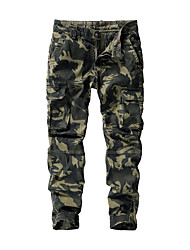 cheap -Men's Basic Daily Weekend Jogger Tactical Cargo Pants - Camouflage Breathable Army Green Light gray Dark Gray US36 / UK36 / EU44 / US38 / UK38 / EU46 / US40 / UK40 / EU48