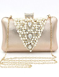 cheap -Women's Bags Straw Evening Bag Crystals Beading Wedding Bags Party Event / Party Champagne