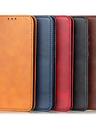 cheap -Case For OnePlus OnePlus 8 / OnePlus 8 Pro / OnePlus 8T / OnePlus 8 Nord Card Holder Shockproof Flip Full Body Cases Solid Colored PU Leather TPU