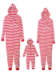 cheap -Family Look Active Basic Striped Color Block Print Drawstring Long Sleeve Maxi Overall & Jumpsuit Red
