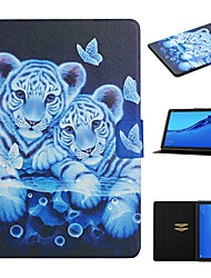 cheap -Case For Huawei  Mediapad T5 10 Mediapad M5 Lite 10 Card Holder with Stand Pattern Full Body Cases Animal PU Leather