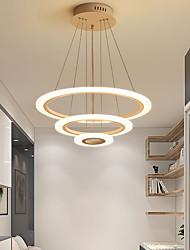 cheap -3-Light 60 cm Circle Design Pendant Light Aluminum Acrylic Painted Finishes Modern 110-120V 220-240V