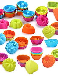 cheap -24/36Pcs  Food Grade Silicone Mini Cupcake Liners Cake Tools Silicone Cake Mold Cupcake Muffin Cups