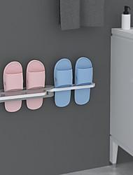 cheap -One Change Into Three Bathroom Organizer Wall Mounted Shoe Rack High Quality Holder Folding Storage Hanging Shelf