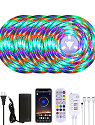 cheap -20M LED Strip Lights Waterproof RGB LED Light Music Sync 1200LEDs LED Strip 2835 SMD Color Changing LED Strip Light Bluetooth Controller and 24 Keys Remote LED Lights for Bedroom Home Party