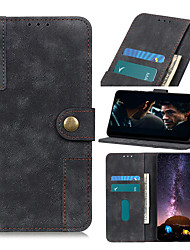 cheap -Case For  LG Stylo 4 Q Stylus G8 ThinQ G8 V50 ThinQ 5G V50 G8S ThinQ G8S Q60 stylo5 6 W10 W30 Q70 V60 ThinQ 5G G9 Card Holder Flip Magnetic Full Body Cases Solid Colored PU Leather TPU BRASS BUCKLE