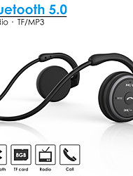cheap -AX-698 Neckband Bluetooth 5.0 Headset Sport Wireless Headphones Music Stereo Earphones with Mic Handsfree Calling Support TF