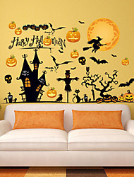 cheap -Halloween Party Toys Window Sticker Wall Stickers 2 pcs Spiders Bat Mischief PVC Kid's Adults Trick or Treat Halloween Party Favors Supplies