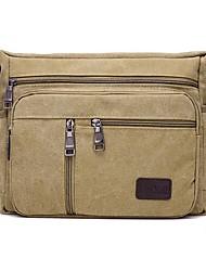 cheap -Men's Bags Canvas Shoulder Messenger Bag Crossbody Bag Canvas Bag Daily Outdoor Black Blue Army Green Khaki