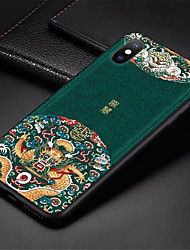 cheap -Embossed Leather Back Cover For iPhone 6 Plus iPhone 7 Plus iPhone 8 Plus Case Special China Style Phone Cases For iPhone X iPhone XS iPhone XS MAX