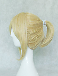 cheap -Cosplay Costume Wig Synthetic Wig Cosplay Wig Kagamine Len Vocaloid Straight Cosplay Asymmetrical Short Bob Wig Blonde Short Blonde Grey Natural Black Synthetic Hair 12 inch Men's Cosplay Black Blonde