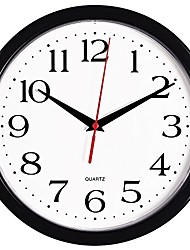 cheap -bernhard products black wall clock silent non ticking - 10 inch quality quartz battery operated round easy to read home/office/classroom/school clock