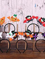 cheap -Halloween Party Toys Halloween Headband 5 pcs Cat Pumpkin Witch Vampire Luminous Masquerade Random Style with Light Fabrics Kid's Adults Trick or Treat Halloween Party Favors Supplies