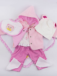 cheap -Reborn Baby Dolls Clothes Reborn Doll Accesories Cotton Fabric for 22-24 Inch Reborn Doll Not Include Reborn Doll Bear Soft Pure Handmade Girls' 7 pcs