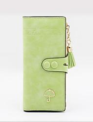 cheap -Women's Bags PU Leather Wallet Tassel for Daily Wine / Black / Blue / Green / Light Green