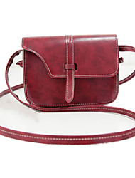 cheap -Women's Bags PU Leather Crossbody Bag for Daily / Going out Wine / Brown / Fall & Winter