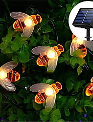 cheap -6.5M 30LED Solar Bee LED Light String Fairy String Lights Outdoor String Lights 8 Function Outdoor Waterproof For Wedding Garden Lawn Christmas Decoration Solar Lamp