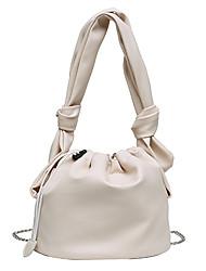 cheap -Women's Chain Polyester / PU Top Handle Bag Handbags Solid Color White / Black / Khaki