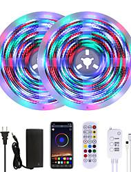cheap -MASHANG Bright 10M RGBW LED Strip Lights Waterproof Music Sync Smart LED Tiktok Lights 2340LEDs 2835 Color Changing with 24 keys Remote Bluetooth Controller for Home Bedroom TV Back Lights DIY Deco