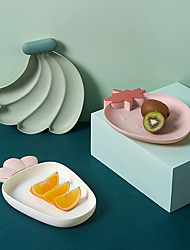 cheap -3Pcs Food Storage Tray Home Nordic Style Kitchen Ceramic Fruit Plate