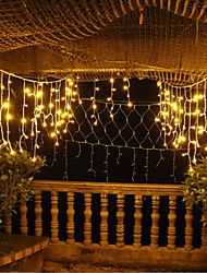 cheap -20M 5*4m*0.6m Synchronous Control Curtain String Lights 720 LEDs With 8-Mode Memory Controller Warm White Waterproof Engineering Outdoor Decorative Garden Decoration Lamp 220-240 V 1 set