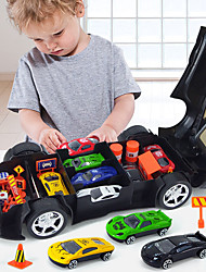 cheap -Toy Car Electric Toys Construction Truck Toys Police car Sports Car Music & Light Alloy Mini Car Vehicles Toys for Party Favor or Kids Birthday Gift 1+3 pcs / Kid's