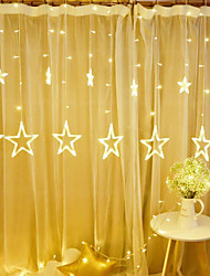 cheap -LED Star String Lights Curtain Lights Christmas Decoration 2.5M 8.2FT 138 LEDs Light for Bedroom Outdoor Patio Christmas New Year Wedding Valentine's Day Gift