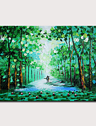 cheap -Mintura Hand Painted Knife Trees Oil Paintings on Canvas Modern Abstract Wall Picture Pop Art Posters For Home Decoration Ready To Hang