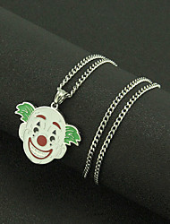 cheap -Men's Pendant Necklace Necklace Long Necklace Long Clown Simple Classic Trendy Fashion Stainless Steel Silver 60 cm Necklace Jewelry 1pc For New Baby Street Festival
