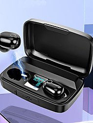cheap -LITBest A16 TWS True Wireless Macaroons Earbuds Voice Assistant Smart Touch Earphone With Large Capcity Charging Box Bluetooth Hi-fi Stereo LED Display  Headset Support For Charging your Phone