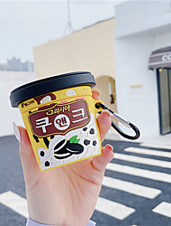cheap -Cute Ice Cream Cup Box Wireless Bluetooth Earphone Case for Airpods 2 1 Headphone 3D Silicone Accessories Cover Bags