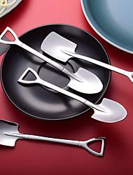 cheap -Stainless Steel Spoon Teaspoon Children Creative Metal Ice Cream Coffee Shovel Shape Tea Spoons