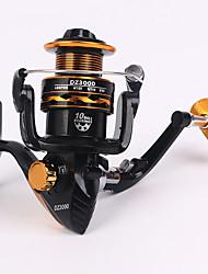 cheap -Fishing Reel Spinning Reel 5.1:1 Gear Ratio+10 Ball Bearings Hand Orientation Exchangable Sea Fishing / Freshwater Fishing / Trolling & Boat Fishing
