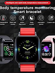 cheap -T96 Smart Watch Themometer Body Temperature Monitor Heart Rate Sleep Monitor Wristband Multi-sport Smart Watch