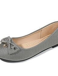 cheap -Women's Flats Loafers & Slip-Ons Flat Heel Round Toe Daily PU Solid Colored Gold Brown Gray