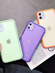 cheap -iPhone11Pro Max Candy hit Color Frosted Mobile Phone Case XS Max Anti-fall Translucent 7 8Plus SE 2020 Protective Case