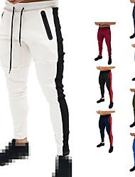 billige -Herre Jogger bukser Løbebukser Track Pants Sports Pants Athletic Underdele Snørelukning Fitness Gym træning Opvisning Løb Træning Åndbart Hurtigtørrende Blød Normal Sport Hvid Sort Blå Rød Grå Grøn