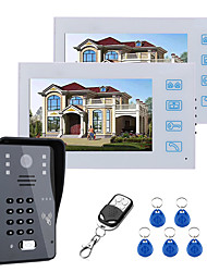 cheap -7inch Two Monitors Video Door Phone Intercom Doorbell With RFID Password IR-CUT 1000TV Line Camera  Wireless Remote Access Control System