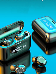 cheap -LITBest F9-218 TWS Wireless Earbuds 2000mAh Large Power Charging Box Mobile Power For Smartphones Touch Control Earphone Bluetooth LED  Digital Display Hi-fi Sound Quality Waterproof Headset For Sport
