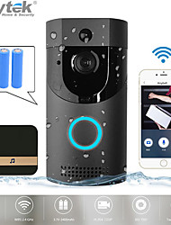 voordelige -anytek b30 smart deurbel draadloze wifi intercom video deurbel camera deurbel ontvanger set camera wifi video nachtzicht