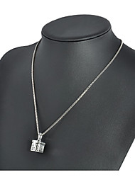 cheap -Women's Pendant Necklace Box Unique Design Vintage Chrome Silver 45 cm Necklace Jewelry 1pc For Daily Street Club